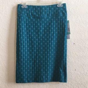 Margaret M teal pull on pencil skirt